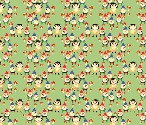 snow white and the seven dwarfs fabric by heidikenney on Spoonflower - custom fabric