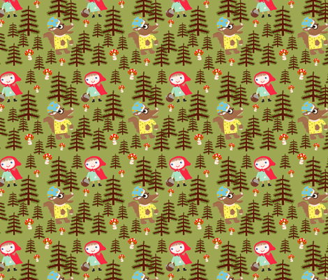 little red riding hood fabric by heidikenney on Spoonflower - custom fabric