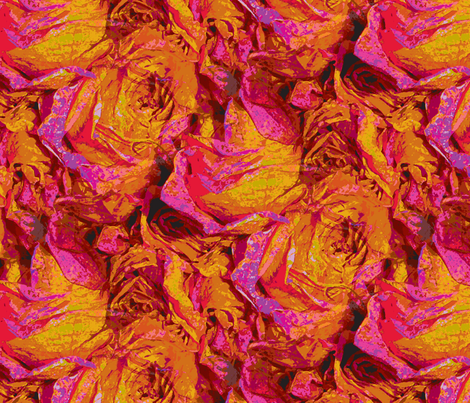 Roses Schmoses  fabric by peacoquettedesigns on Spoonflower - custom fabric