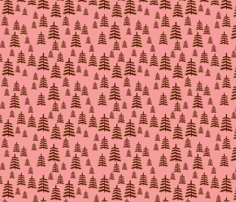 forest pink fabric by heidikenney on Spoonflower - custom fabric