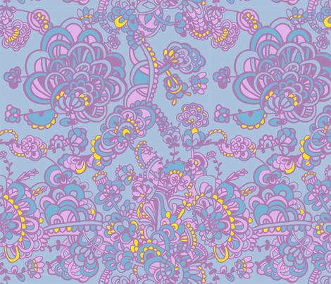 summer_flowers fabric by ruusulampi on Spoonflower - custom fabric