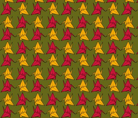 Paper Cranes fabric by nekineko on Spoonflower - custom fabric