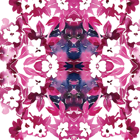 C'EST LA VIV™ In•a•Gadda•da•Vida Collection MORNING WHITE fabric by cest_la_viv on Spoonflower - custom fabric