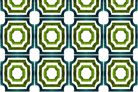 cestlaviv_Lattice ShadowsPeridot fabric by cest_la_viv on Spoonflower - custom fabric
