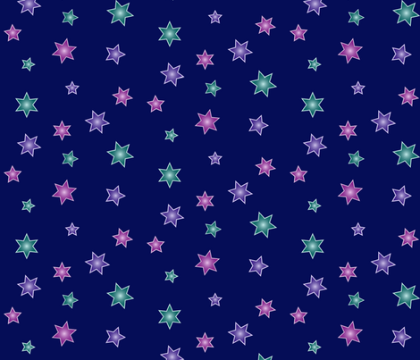 gradient-stars-1-DKBL fabric by mina on Spoonflower - custom fabric