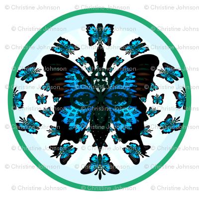Fleur-de-lis butterfly Crest  Mothers Garden