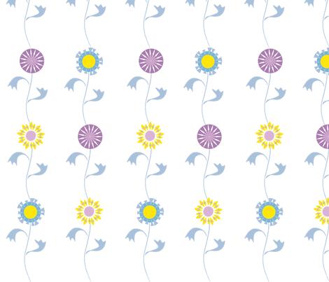 folksy floral fabric by mondaland on Spoonflower - custom fabric