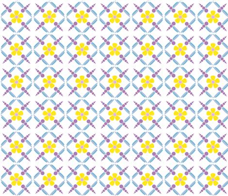 dotdragonfly flowers fabric by weezyrose on Spoonflower - custom fabric