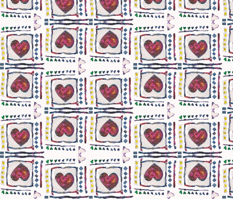 Sweetheart Tile fabric by flossies_garden on Spoonflower - custom fabric