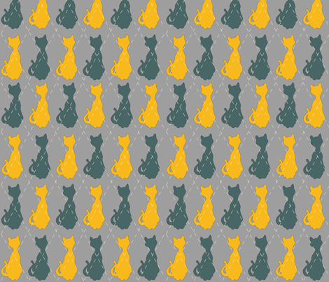 ARGYLEKITTY_Blueorange fabric by surfacerender on Spoonflower - custom fabric