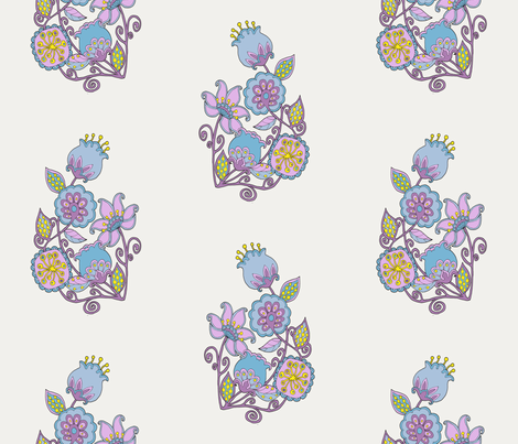 SUMMER FLOWERS SINGLE fabric by uzumakijo on Spoonflower - custom fabric