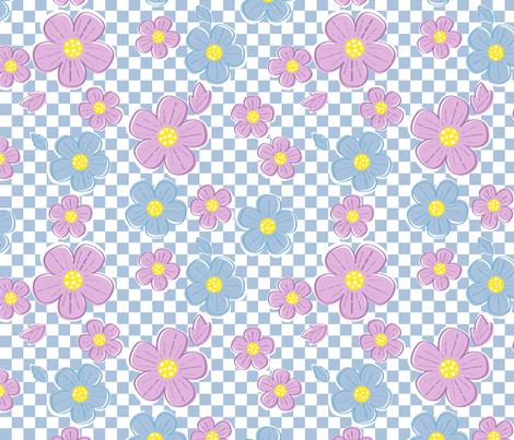Flower Power fabric by dynasty_b on Spoonflower - custom fabric