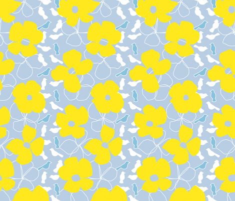 Yellow Check, Please! fabric by eloisenarrigan on Spoonflower - custom fabric