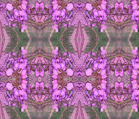 Native Pea Flower in Pink fabric by engelstudios on Spoonflower - custom fabric