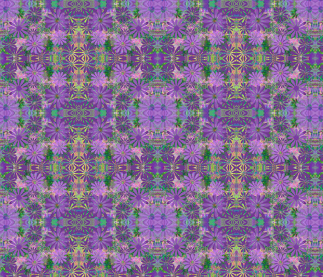 Fall Asters fabric by jellybeanquilter on Spoonflower - custom fabric