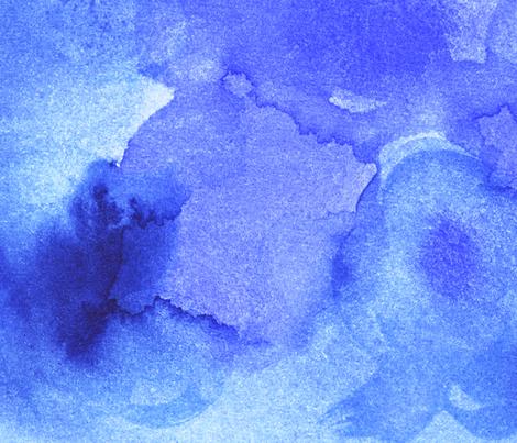 Watercolor - Ocean fabric by owlandchickadee on Spoonflower - custom fabric