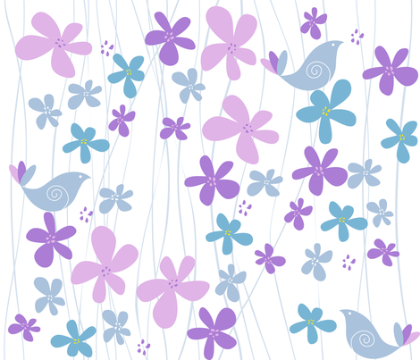 Summer  Song fabric by snowflower on Spoonflower - custom fabric