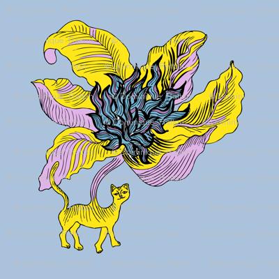 El gato flor