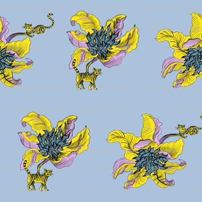 Los gatos flor