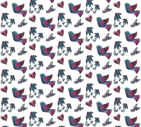 Sweet Dove  fabric by flossies_garden on Spoonflower - custom fabric