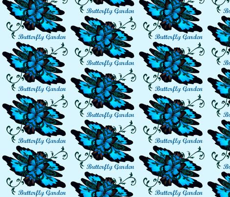 Fleur-de-lis butterfly Garden fabric by paragonstudios on Spoonflower - custom fabric