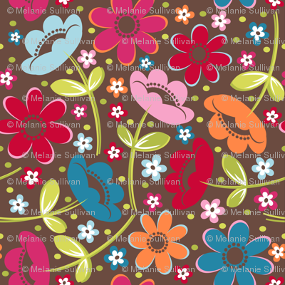 Tossed Floral Chocolate