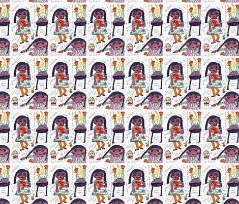 Chica Braids-251 fabric by kkitwana on Spoonflower - custom fabric