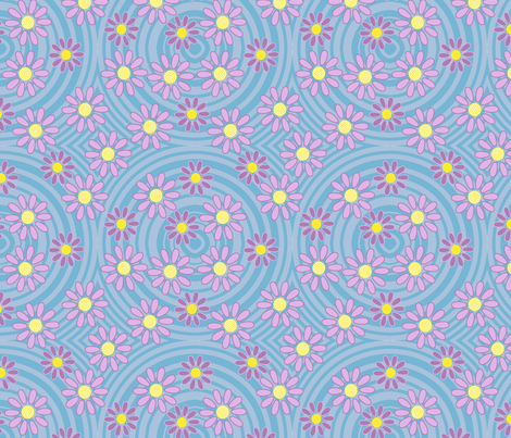 Swimming Flowers fabric by andreamwolf on Spoonflower - custom fabric