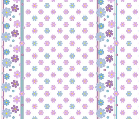 Summer Flowers w/ Border fabric by oranshpeel on Spoonflower - custom fabric