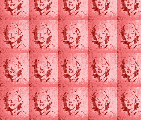 Concrete Marylin in pink fabric by twoboos on Spoonflower - custom fabric
