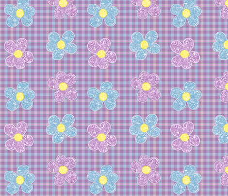 Bandana Summer Flowers fabric by mandollyn on Spoonflower - custom fabric