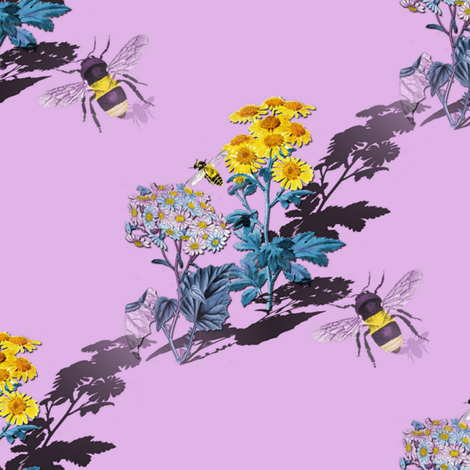 How Doth the Little Busy Bee... fabric by peacoquettedesigns on Spoonflower - custom fabric