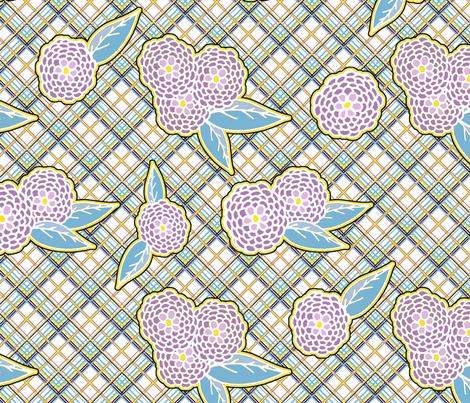 Summer Flowers fabric by feebeedee on Spoonflower - custom fabric