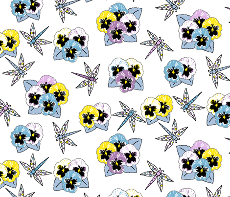 Dragonfly Dream - Summer Day fabric by inscribed_here on Spoonflower - custom fabric