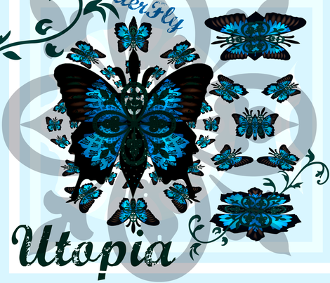 ButterFly Utopia  fabric by paragonstudios on Spoonflower - custom fabric
