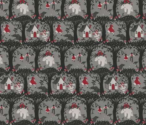 The Black Forest (smaller repeat) fabric by ceanirminger on Spoonflower - custom fabric