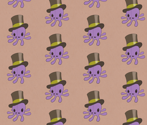Mr. Octopus fabric by crowlands on Spoonflower - custom fabric