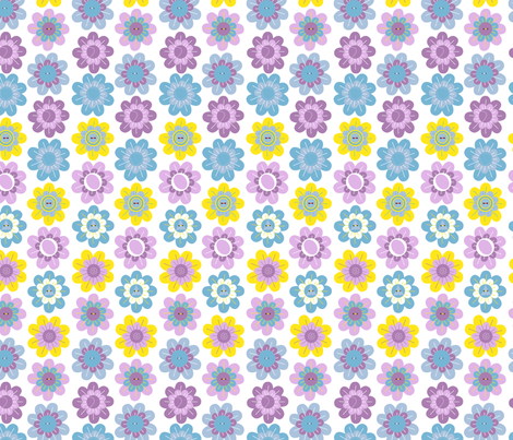 Vintage Flowers - Springtime fabric by marcelinesmith on Spoonflower - custom fabric