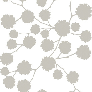Blossoming - Warm Grey - large scale