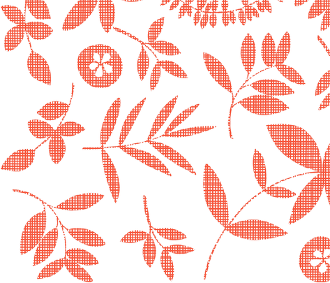 Botanical - Flame fabric by elephantandrose on Spoonflower - custom fabric