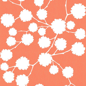 Blossoming - Coral - Reverse - Large scale