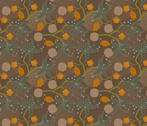 jungle delights earth stars fabric by fiona_mcdonald_juicyapple on Spoonflower - custom fabric