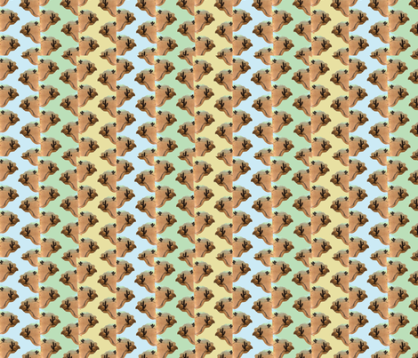 Cactus_Zigzag_3color fabric by cyndilou on Spoonflower - custom fabric
