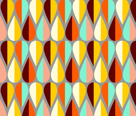 Alison's Fetching Fletching fabric by nadiahassan on Spoonflower - custom fabric