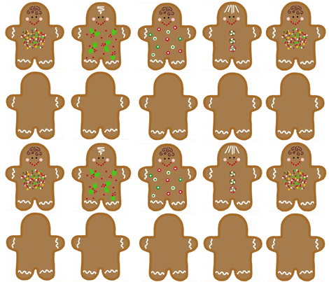cookies for Santa fabric by connielou on Spoonflower - custom fabric