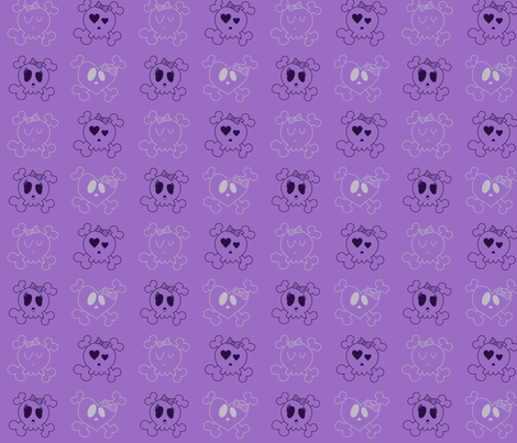 Purple Skulls fabric by jnifr on Spoonflower - custom fabric