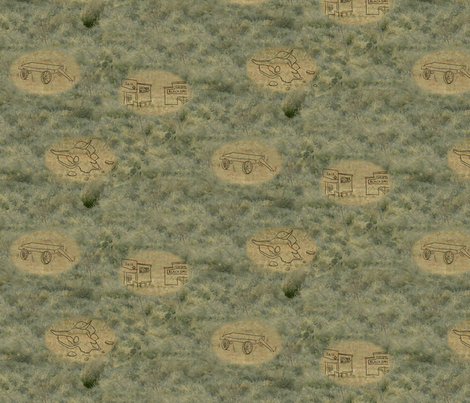 Ghost Town fabric by evenspor on Spoonflower - custom fabric