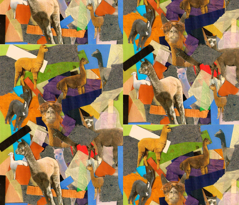 Alpacas Hiding in the Papers fabric by alpaca_lady on Spoonflower - custom fabric