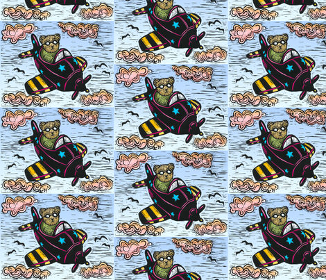 Aero Teddy Bear 1 fabric by jenithea on Spoonflower - custom fabric