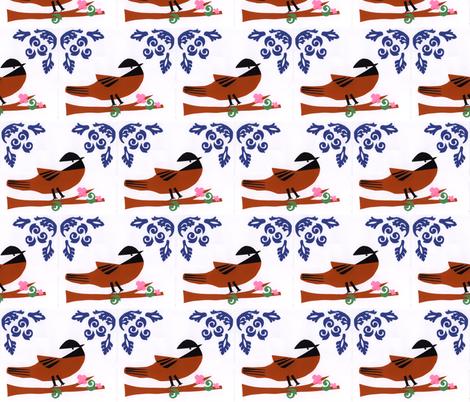 Chicka-Dee-Dee-Dee  fabric by owlandchickadee on Spoonflower - custom fabric
